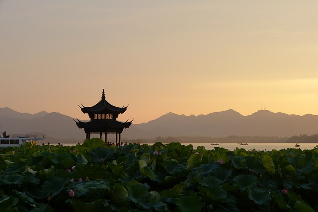 sunset in china