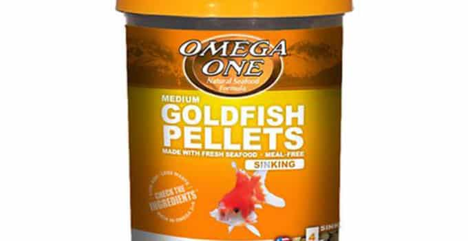 omega one goldfish pellet food